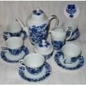 Kávová souoprava, cibulový vzor, Stará Role po r.1958
