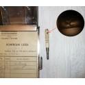 Secesní pouzdro na zápisky s kostěnou tužkou
