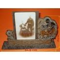 Dřevěný vyřezávaný rámeček na foto, Alois Petrus